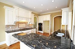 Black Granite kitchen white cabinets - Birmingham Alabama We Rock Alabama Granite of Birmingham