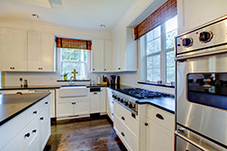 black granite white cabinets Granite kitchen - Birmingham Alabama We Rock Alabama Granite of Birmingham